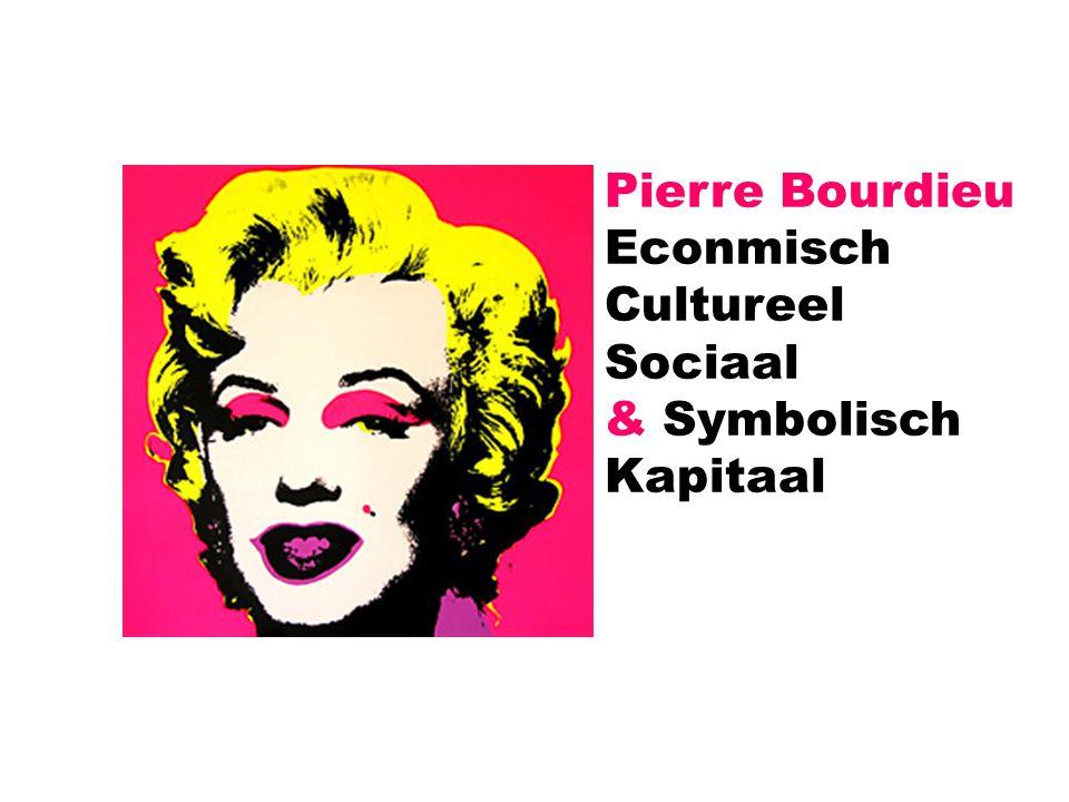 Pierre Bourdieu Econmisch Cultureel Sociaal & Symbolisch Kapitaal