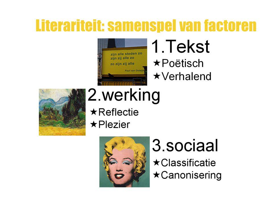 Literariteit: samenspel van factoren
