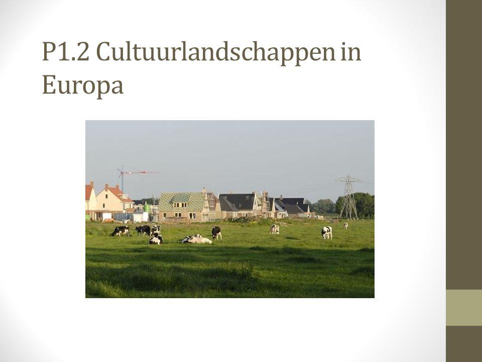 P1.2 Cultuurlandschappen in Europa