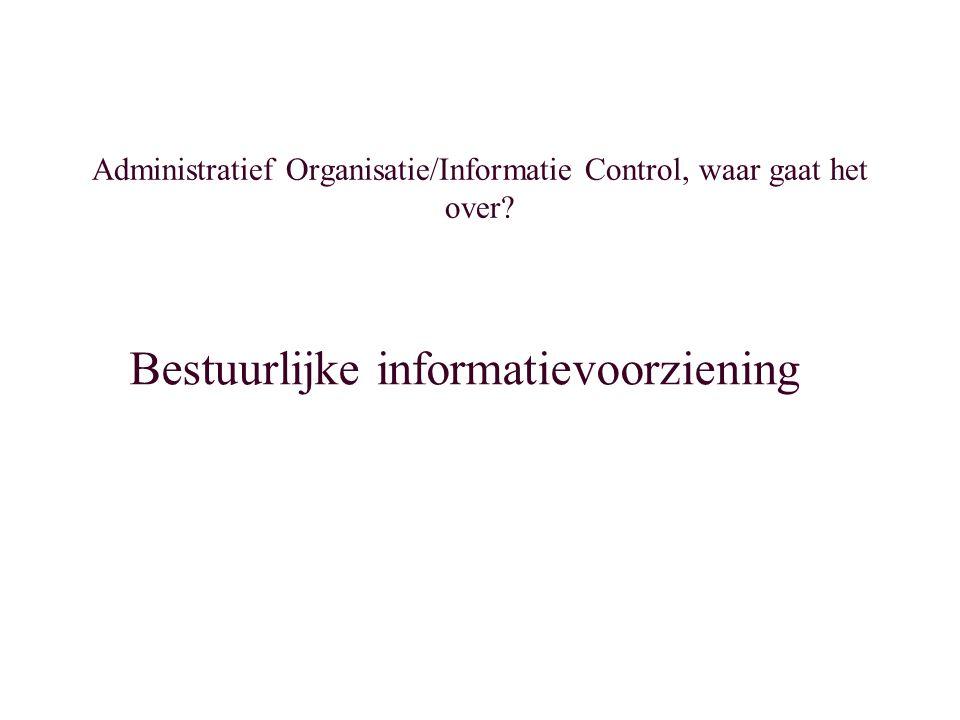 Aandachtspunten interne controle Een informatiesysteem is in de huidige context altijd geautomatiseerd.