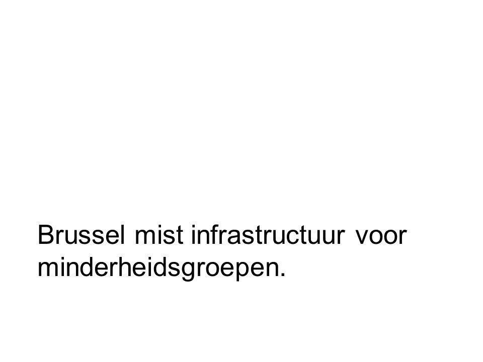 Brussel mist infrastructuur voor minderheidsgroepen.
