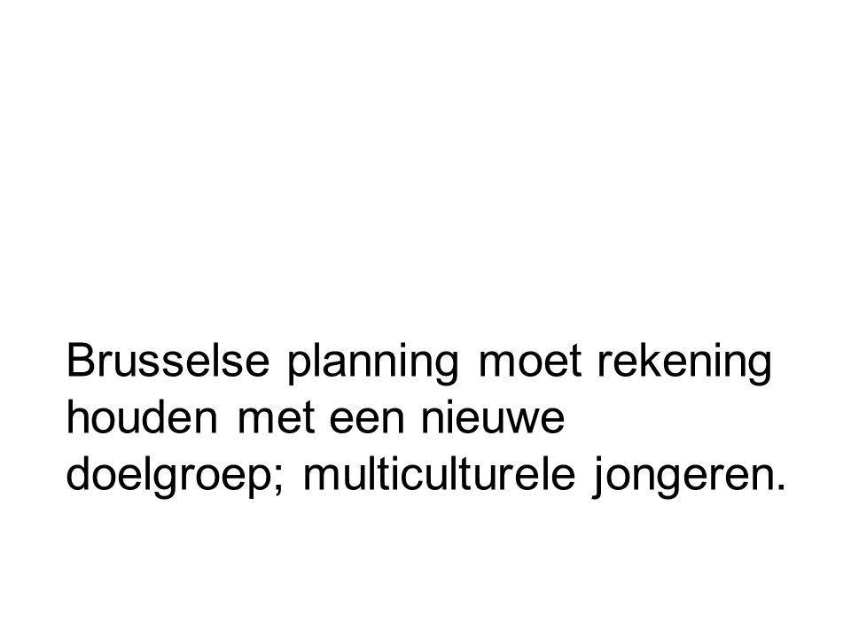 Brusselse planning moet rekening houden met een nieuwe doelgroep; multiculturele jongeren.