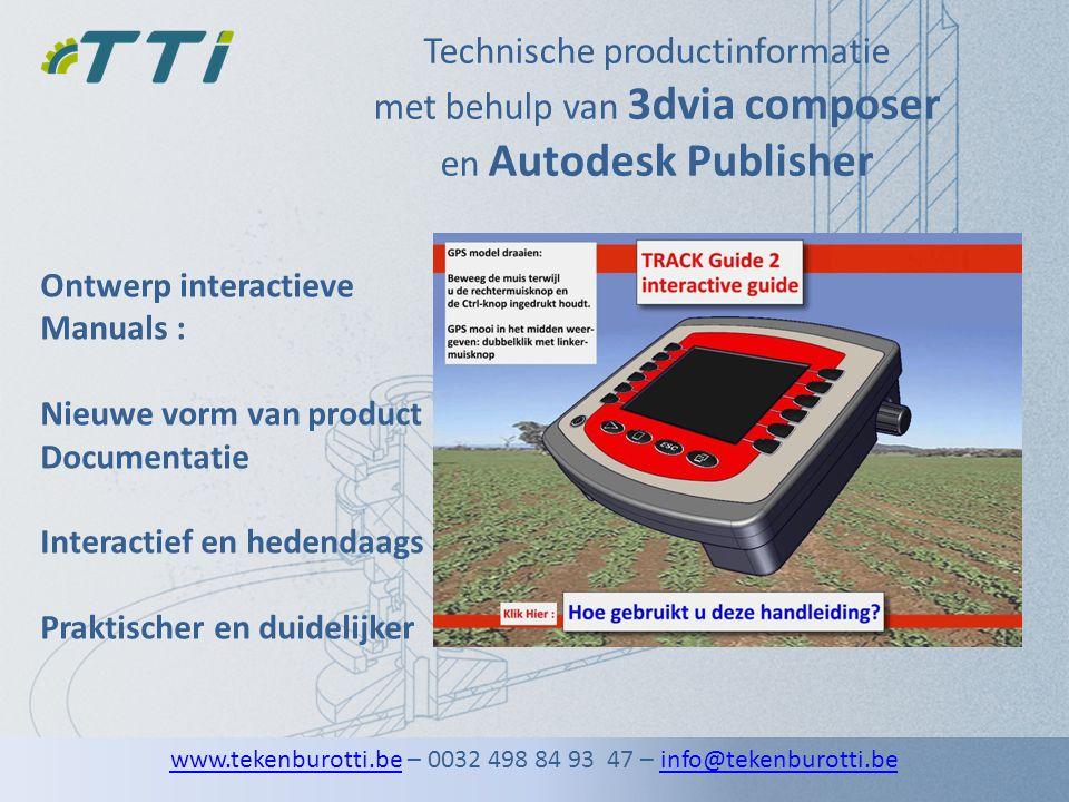 Technische productinformatie met behulp van 3dvia composer en Autodesk Publisher Ontwerp interactieve Manuals : Nieuwe vorm van product Documentatie I
