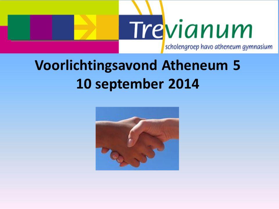 Voorlichtingsavond Atheneum 5 10 september 2014
