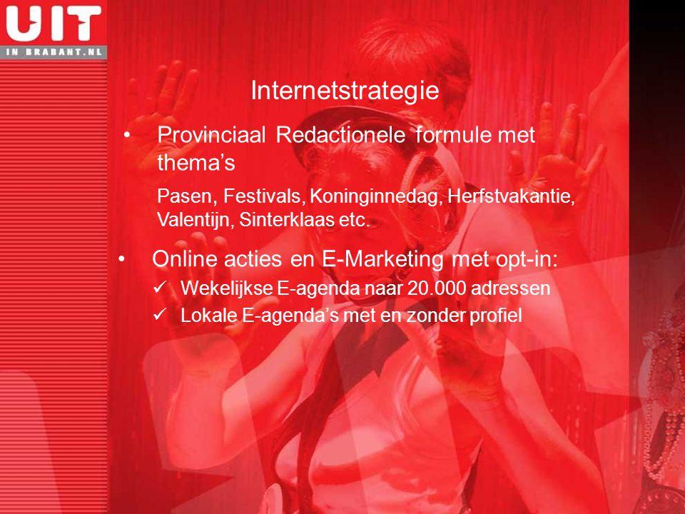 Provinciaal Redactionele formule met thema's Pasen, Festivals, Koninginnedag, Herfstvakantie, Valentijn, Sinterklaas etc. Internetstrategie Online act
