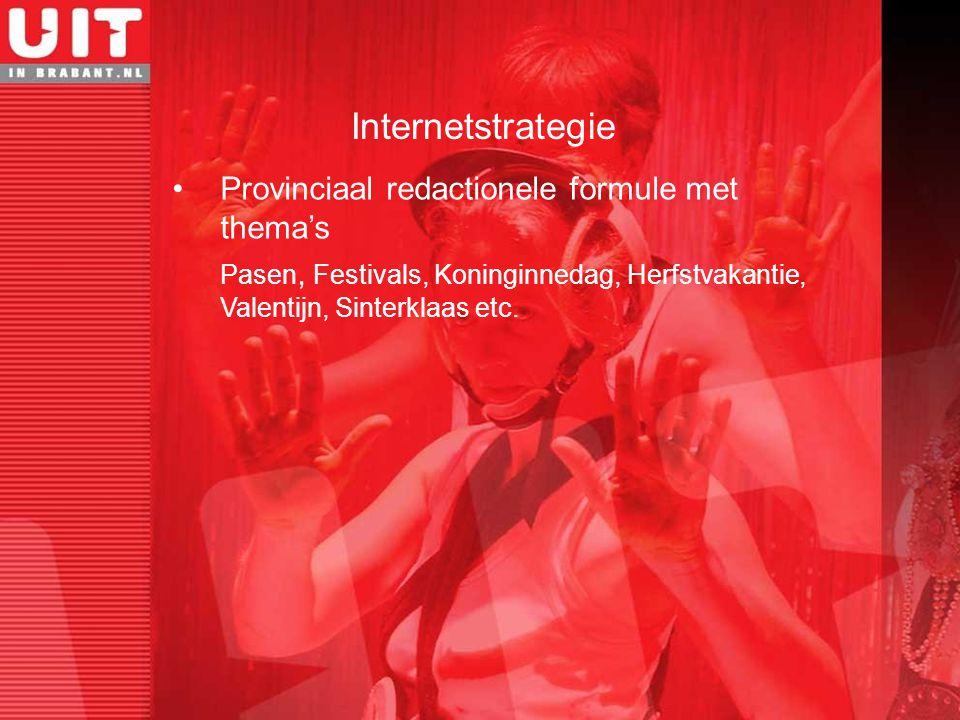 Provinciaal redactionele formule met thema's Pasen, Festivals, Koninginnedag, Herfstvakantie, Valentijn, Sinterklaas etc. Internetstrategie
