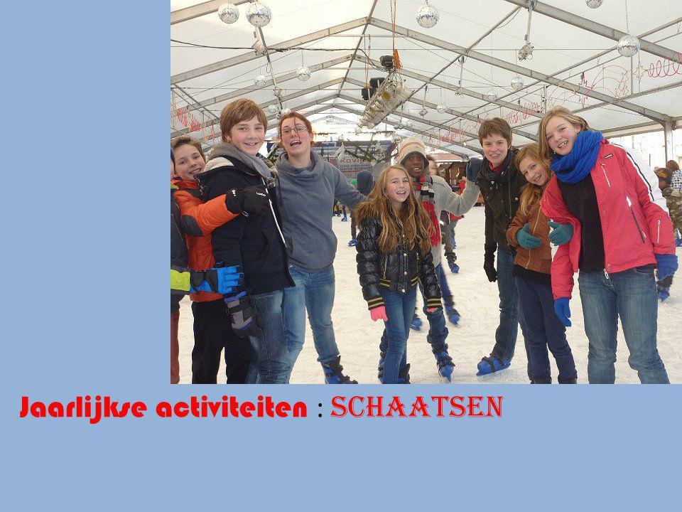 Jaarlijkse activiteiten : schaatsen