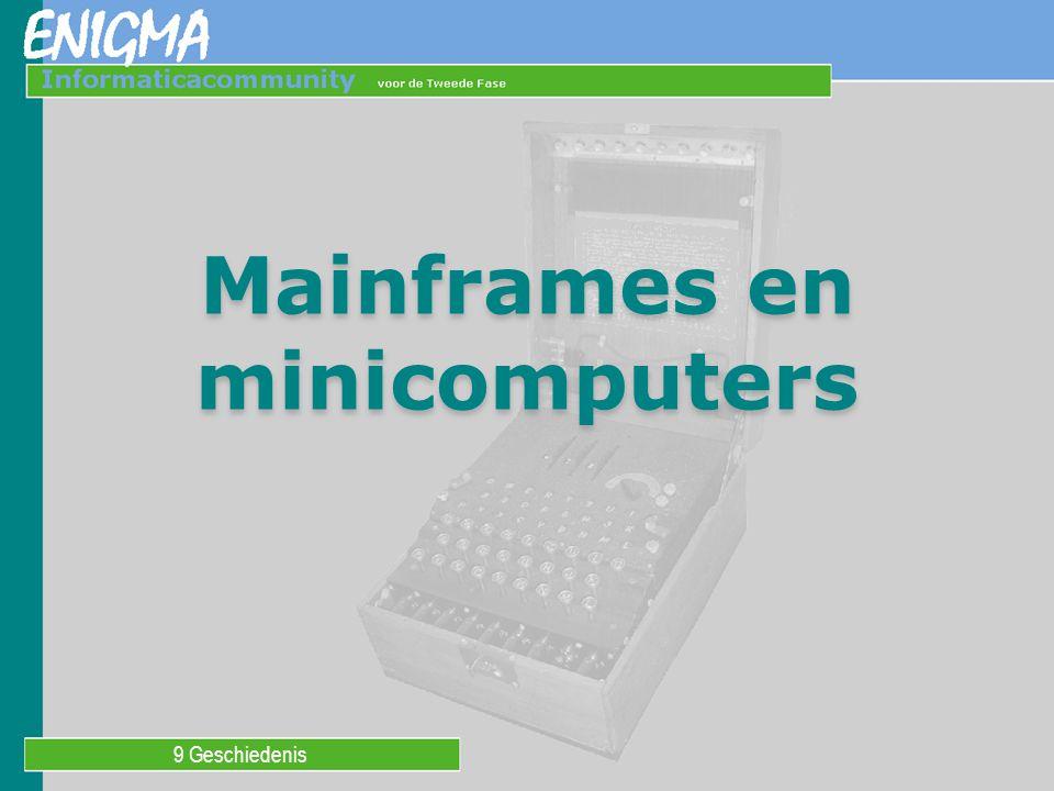 9 Geschiedenis Mainframes en minicomputers