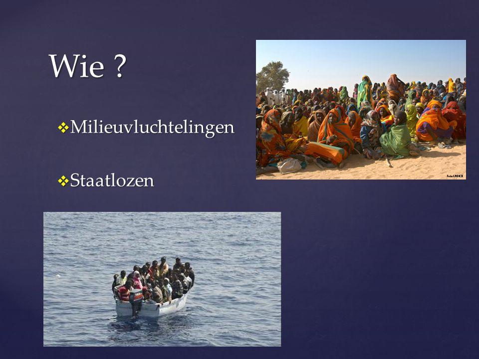  Milieuvluchtelingen  Staatlozen Wie ?