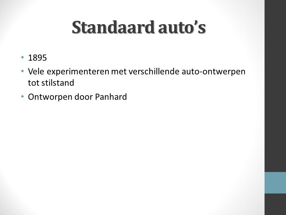 Standaard auto's 1895 Vele experimenteren met verschillende auto-ontwerpen tot stilstand Ontworpen door Panhard