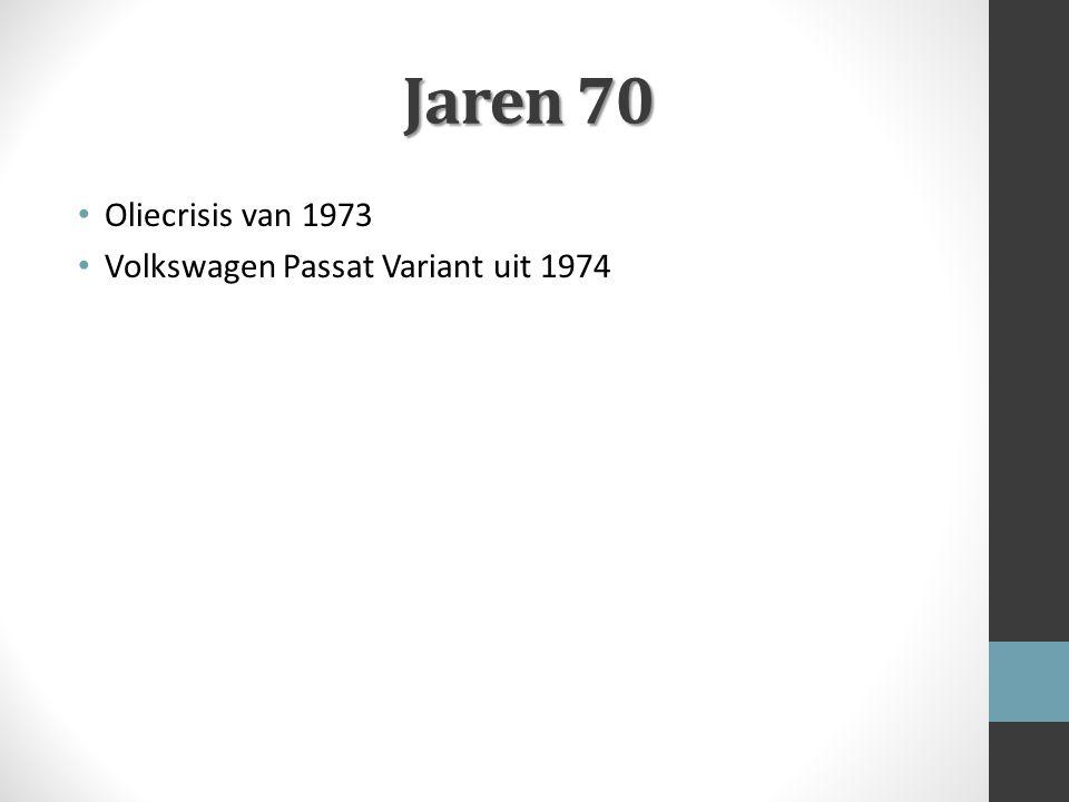 Jaren 70 Oliecrisis van 1973 Volkswagen Passat Variant uit 1974