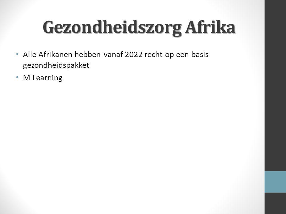 Gezondheidszorg Afrika Alle Afrikanen hebben vanaf 2022 recht op een basis gezondheidspakket M Learning
