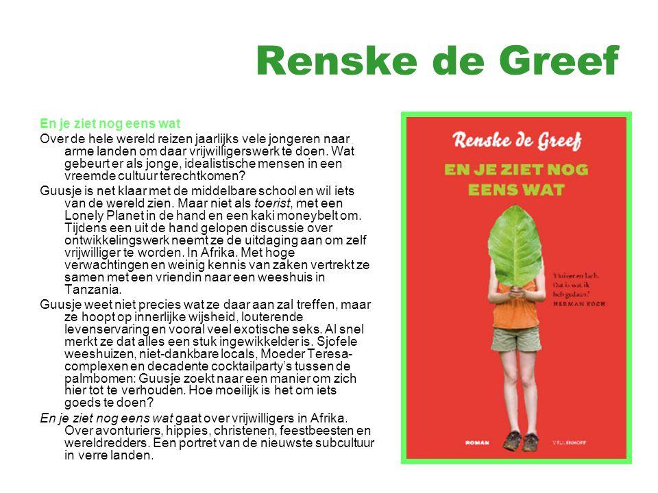 Renske de Greef Vrijwilligerswerk : http://www.youtube.com/watch?v=FOc4y2 gOblA&feature=related