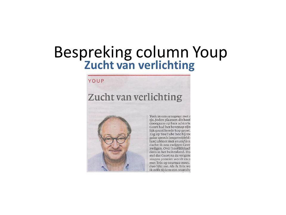 Bespreking column Youp Zucht van verlichting