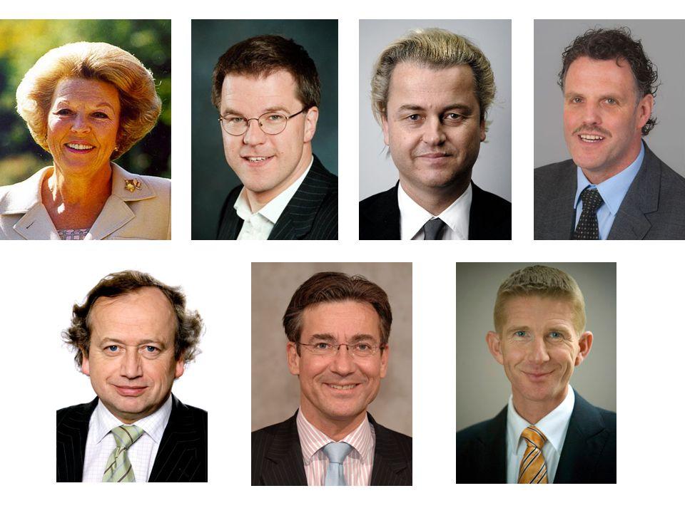 Koningin BeatrixMark RutteGeert WildersCor Bosman Henk BlekerMaxime VerhagenJack de Vries