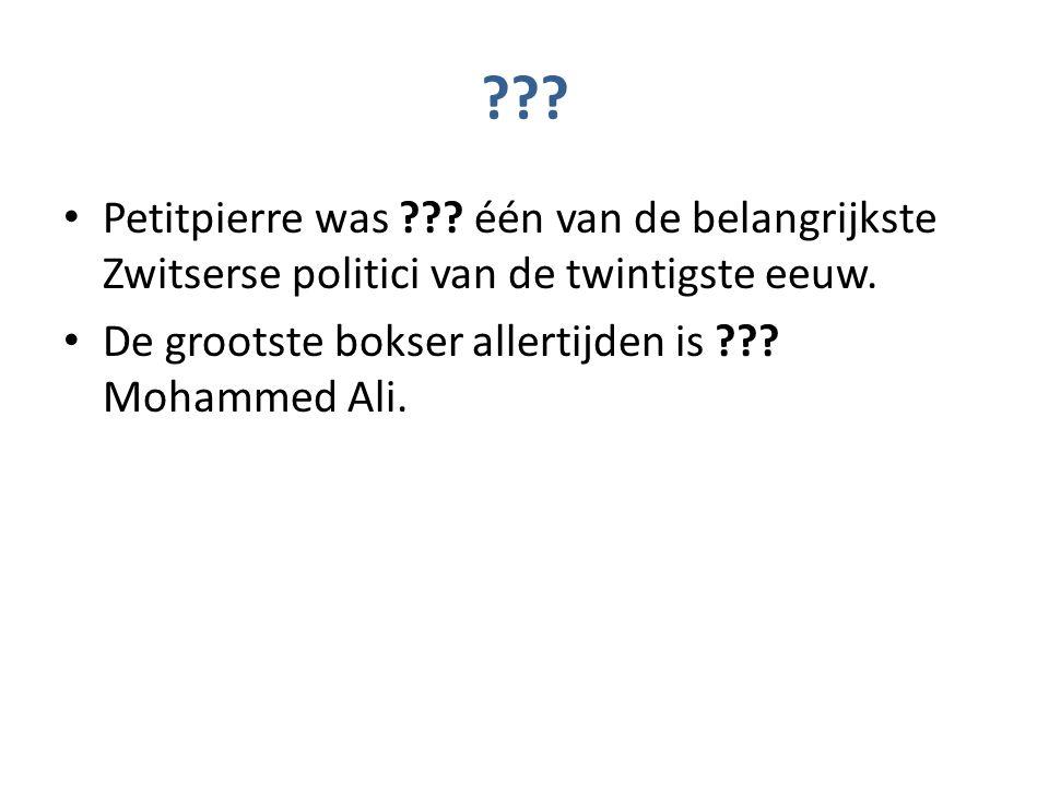 ??. Petitpierre was ??. één van de belangrijkste Zwitserse politici van de twintigste eeuw.