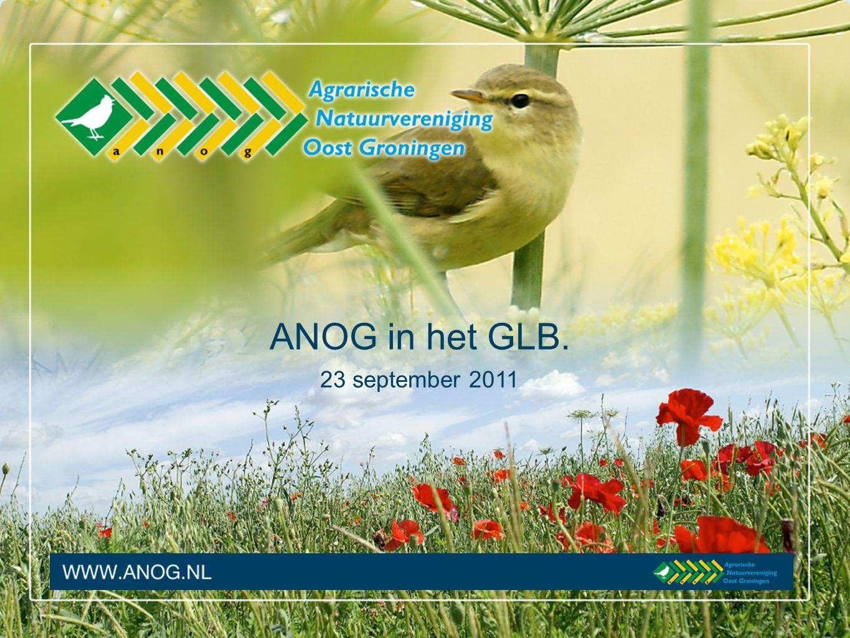 Inhoud presentatie 1.Introductie van de ANOG 2.ANOG in het GLB 3.GLB-pilot 4.En nu….