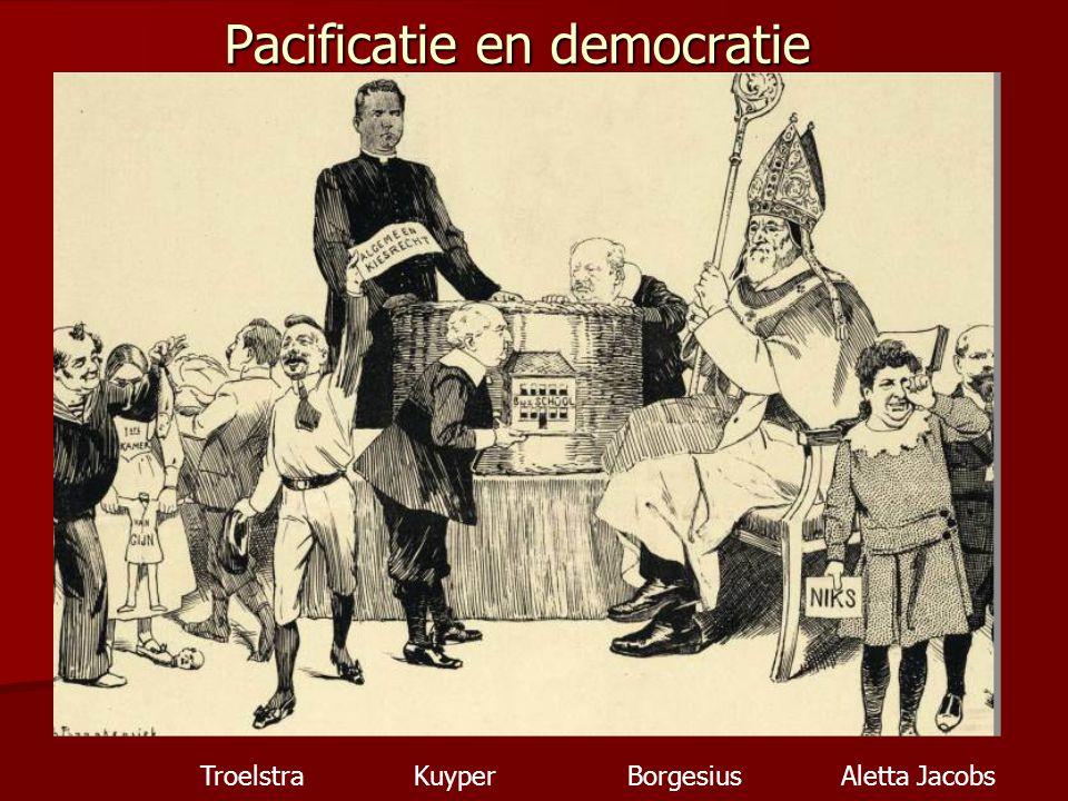 Pacificatie en democratie TroelstraKuyperBorgesiusAletta Jacobs