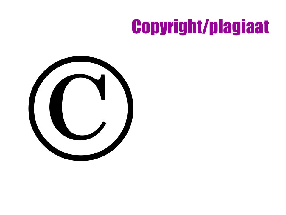 Copyright/plagiaat