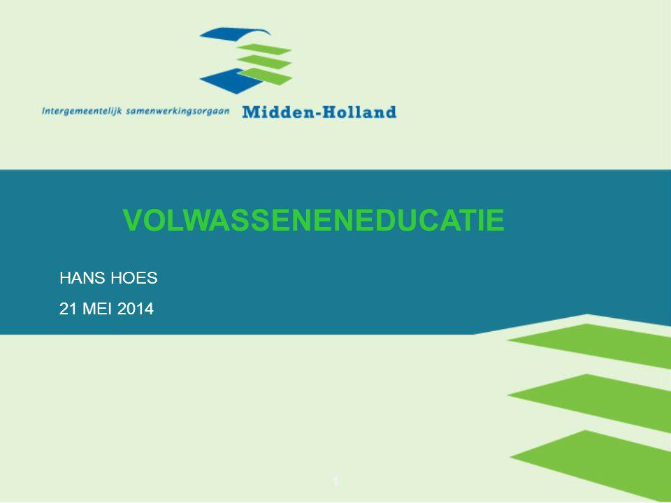 2 SITUATIE MIDDEN-HOLLAND: VANAF 1996 BC EDUCATIE CONTRACTEN MET ID-COLLEGE EN ZADKINE BUDGET THANS € 600.000 JAARLIJKS REGIONAAL BELEIDSKADER REGIONALE SOLIDARITEIT BUDGET VOLLEDIG BESTEED