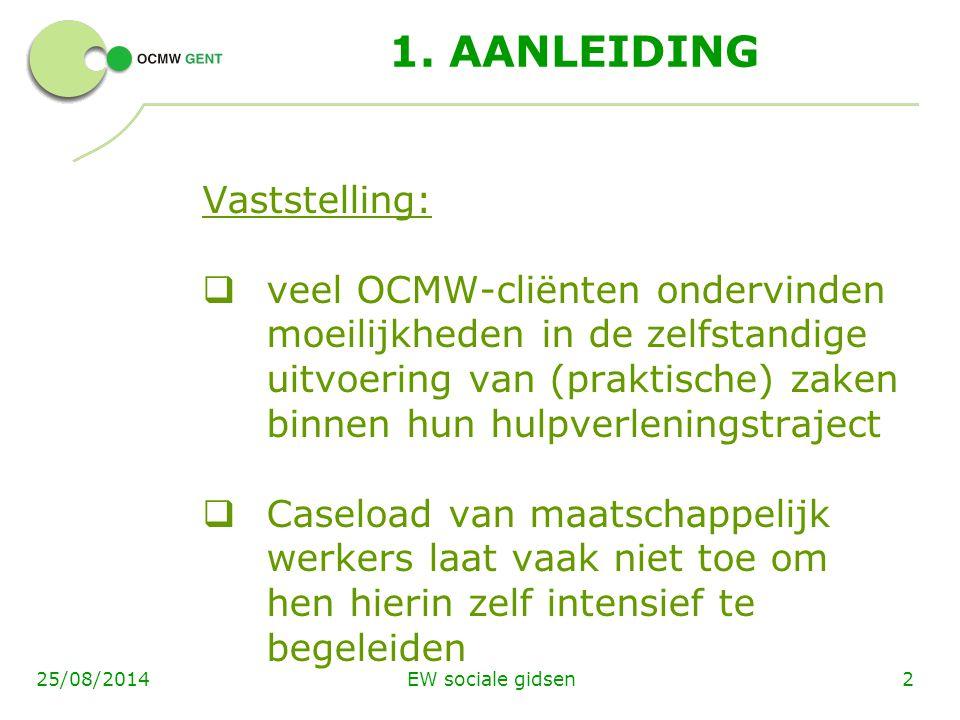 EW sociale gidsen1329/3/15 FASE 3:  uitvoeringsfase (opdrachten wijkwerk ),  groepswerking (1x/week) en  individuele coaching