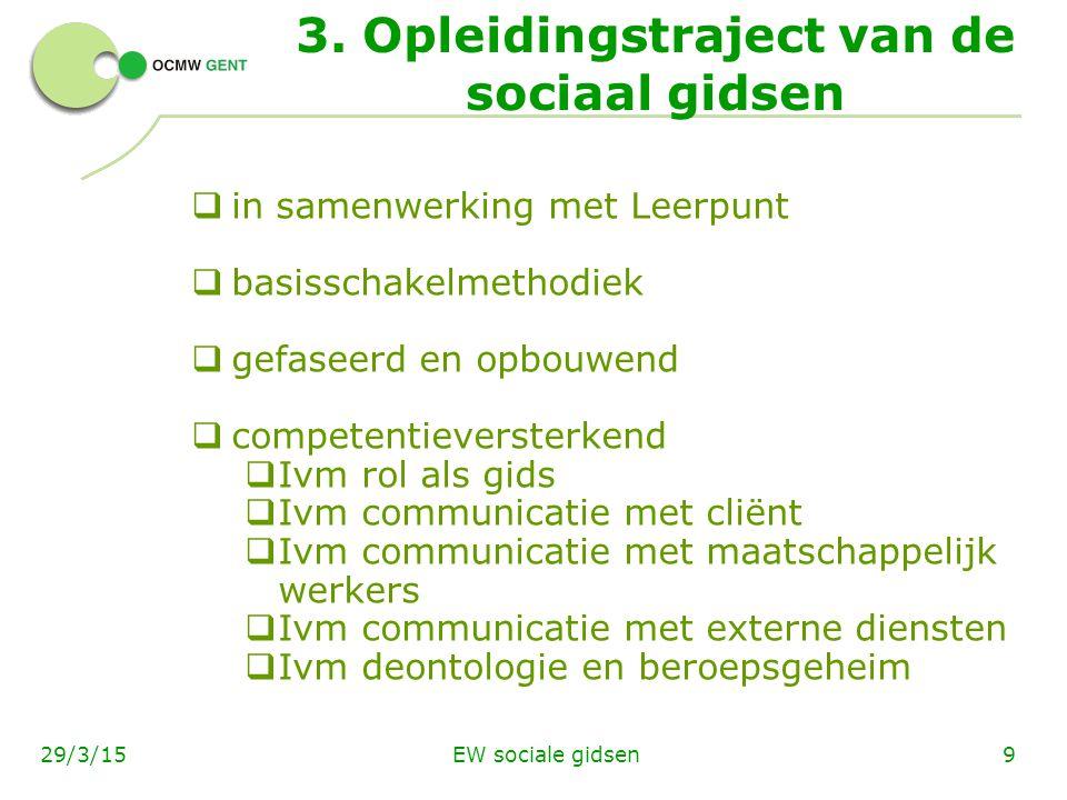 EW sociale gidsen1029/3/15  externe leerbezoeken (bv.