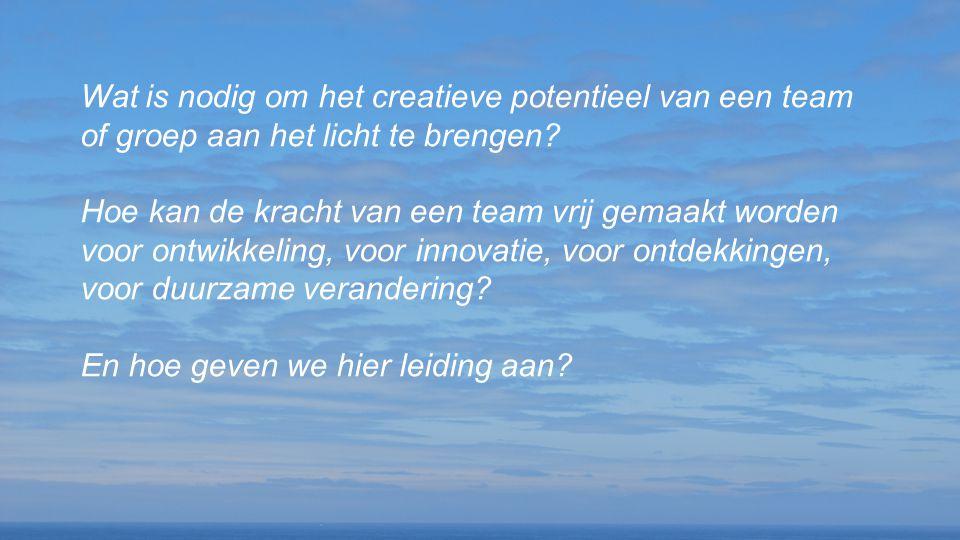 Wat is nodig om het creatieve potentieel van een team of groep aan het licht te brengen? Hoe kan de kracht van een team vrij gemaakt worden voor ontwi