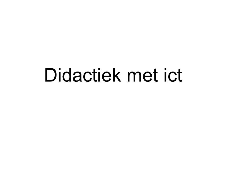 Didactiek met ict