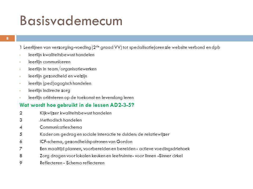 Criteria opstellen  Nood aan nascholing (via Eekhoutcentrum in toekomst).