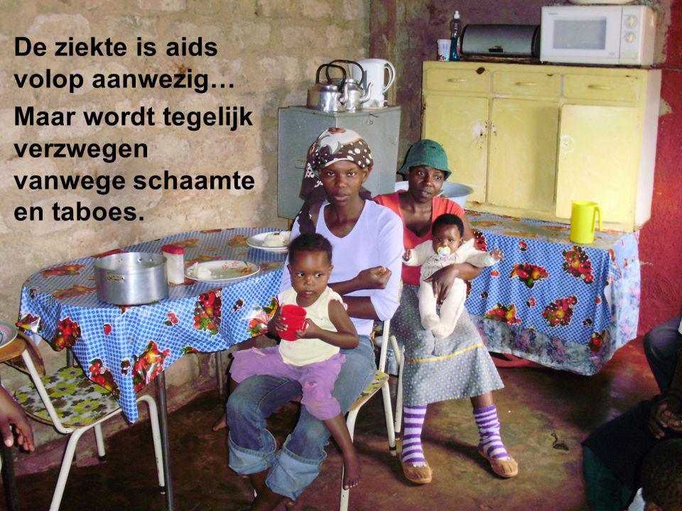 Zuid-Afrika lijdt… Armoede, gebroken gezinnen en taboes rond aids ontwrichten de samenleving. De ziekte is aids volop aanwezig… Maar wordt tegelijk ve