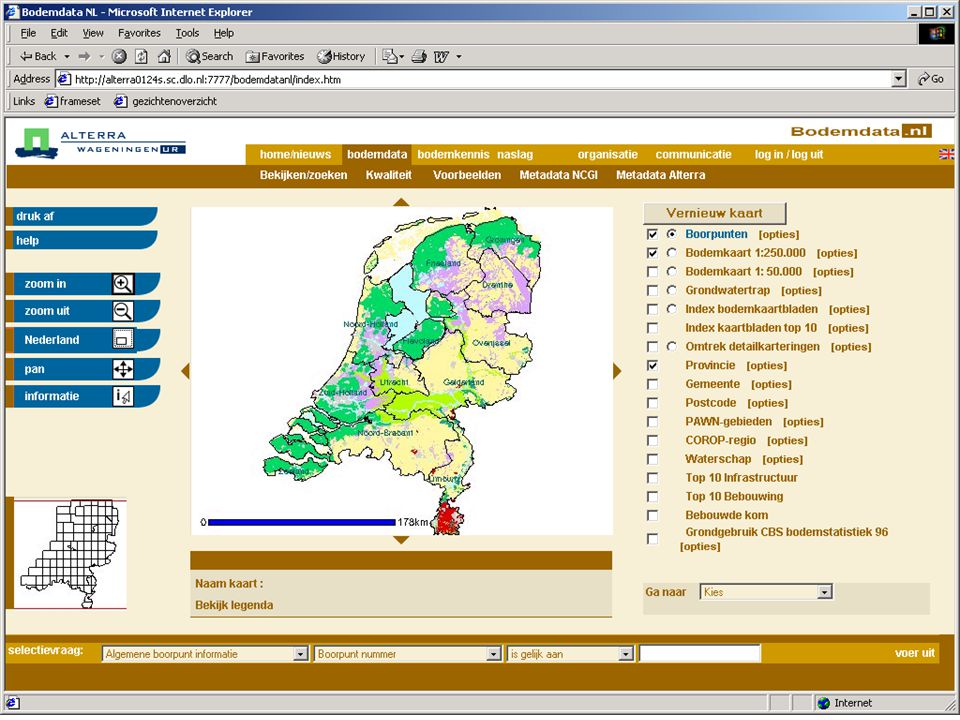 Bodemgegevens op Bodemdata.nl