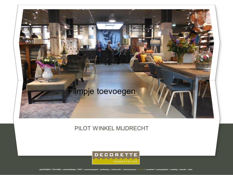 PILOT WINKEL MIJDRECHT geschiedenis | Decorette | marktontwikkeling | SWOT | consumentenpanel | positionering | merkessentie | costumers journey | for