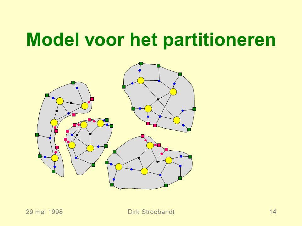 29 mei 1998Dirk Stroobandt14 Model voor het partitioneren