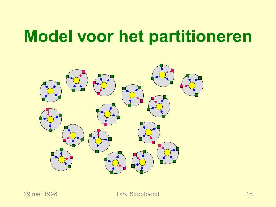 29 mei 1998Dirk Stroobandt16 Model voor het partitioneren