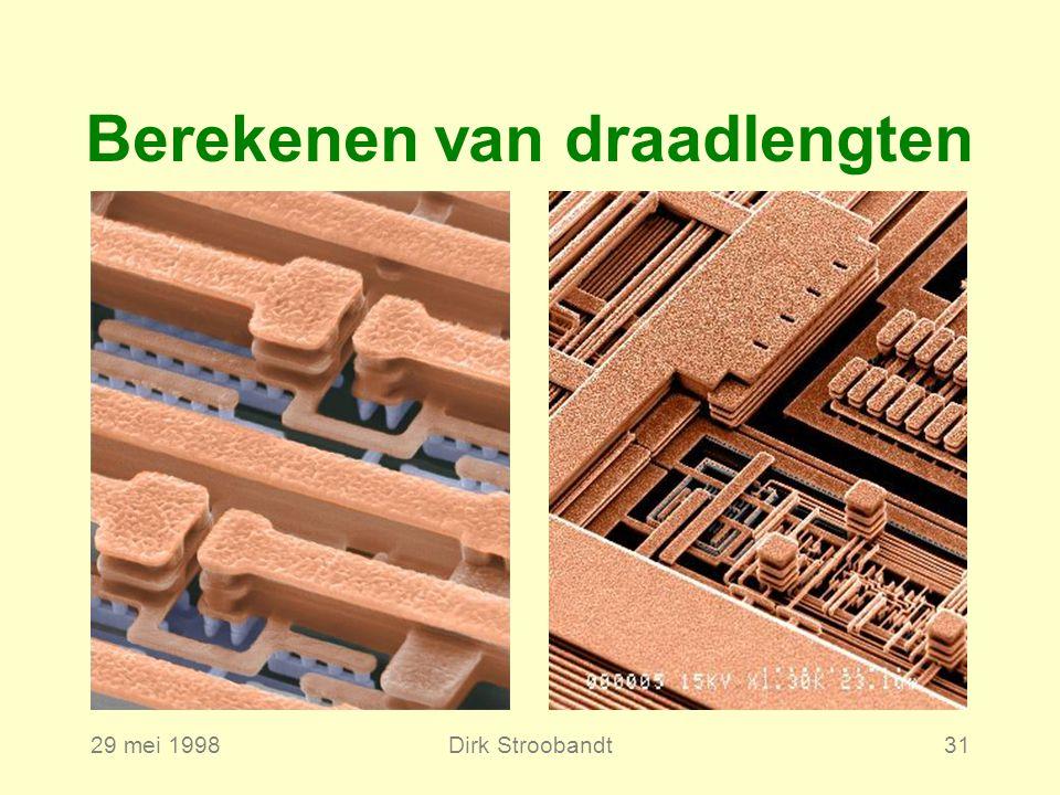 29 mei 1998Dirk Stroobandt31 Berekenen van draadlengten