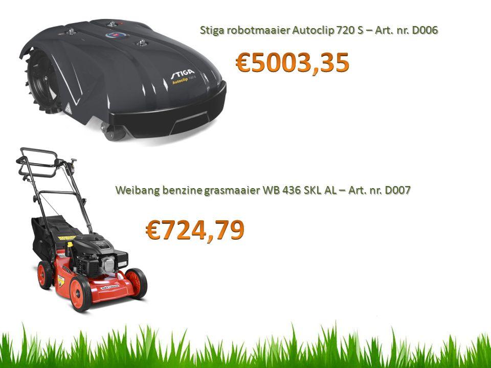 Stiga robotmaaier Autoclip 720 S – Art.nr. D006 Weibang benzine grasmaaier WB 436 SKL AL – Art.