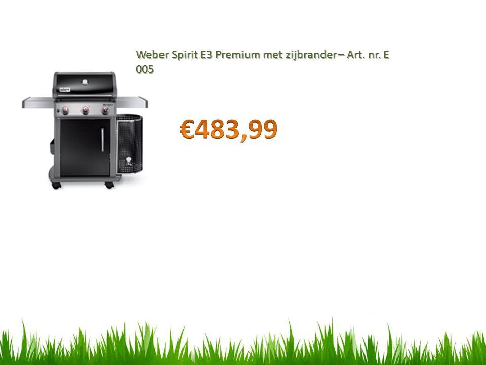 Weber Spirit E3 Premium met zijbrander – Art. nr. E 005
