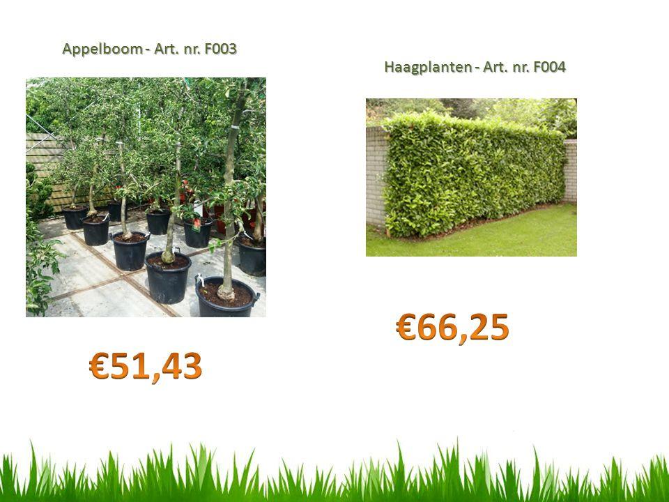 Appelboom - Art. nr. F003 Haagplanten - Art. nr. F004