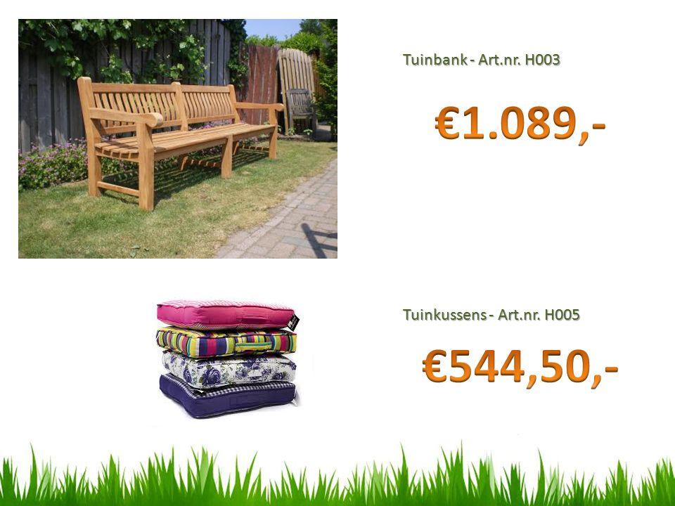 Tuinbank - Art.nr. H003 Tuinkussens - Art.nr. H005
