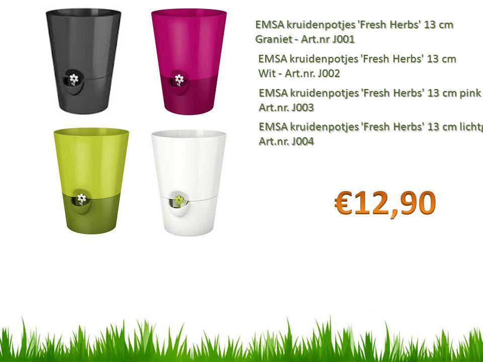 EMSA kruidenpotjes Fresh Herbs 13 cm Graniet - Art.nr J001 EMSA kruidenpotjes Fresh Herbs 13 cm Wit - Art.nr.