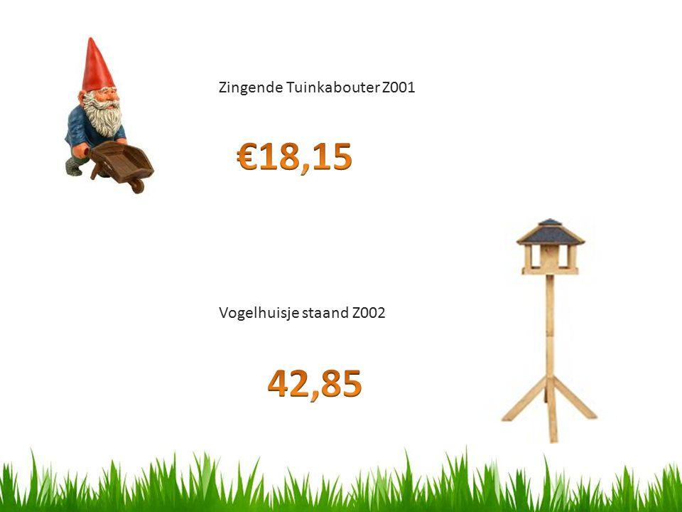 Zingende Tuinkabouter Z001 Vogelhuisje staand Z002