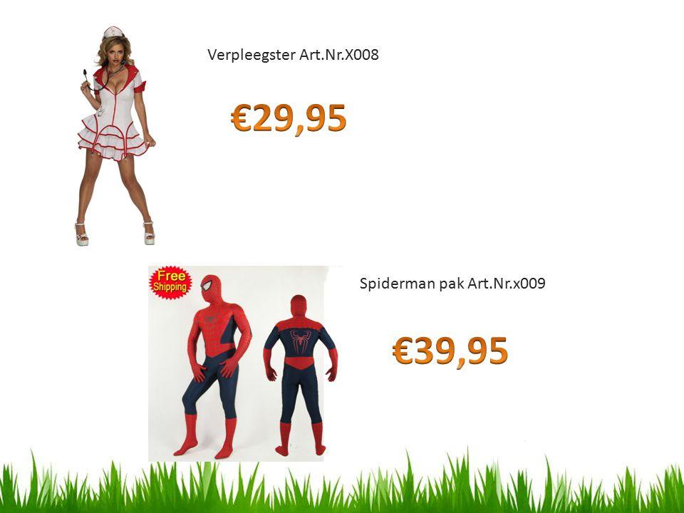 Verpleegster Art.Nr.X008 Spiderman pak Art.Nr.x009