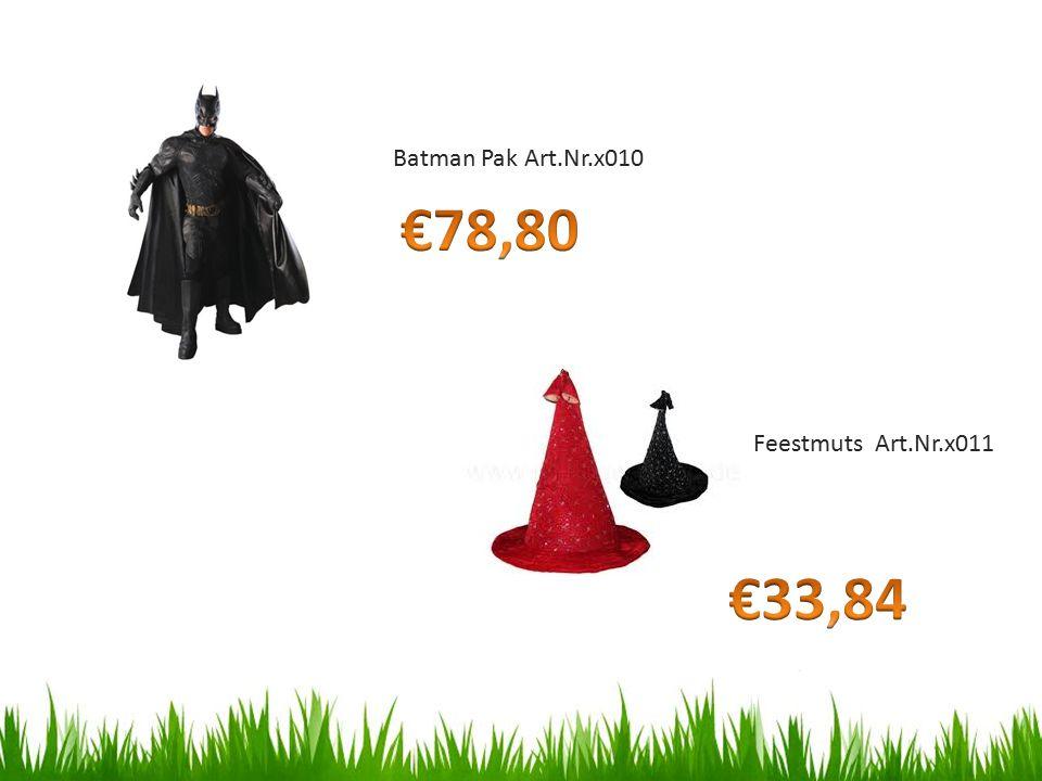 Feestmuts Art.Nr.x011 Batman Pak Art.Nr.x010