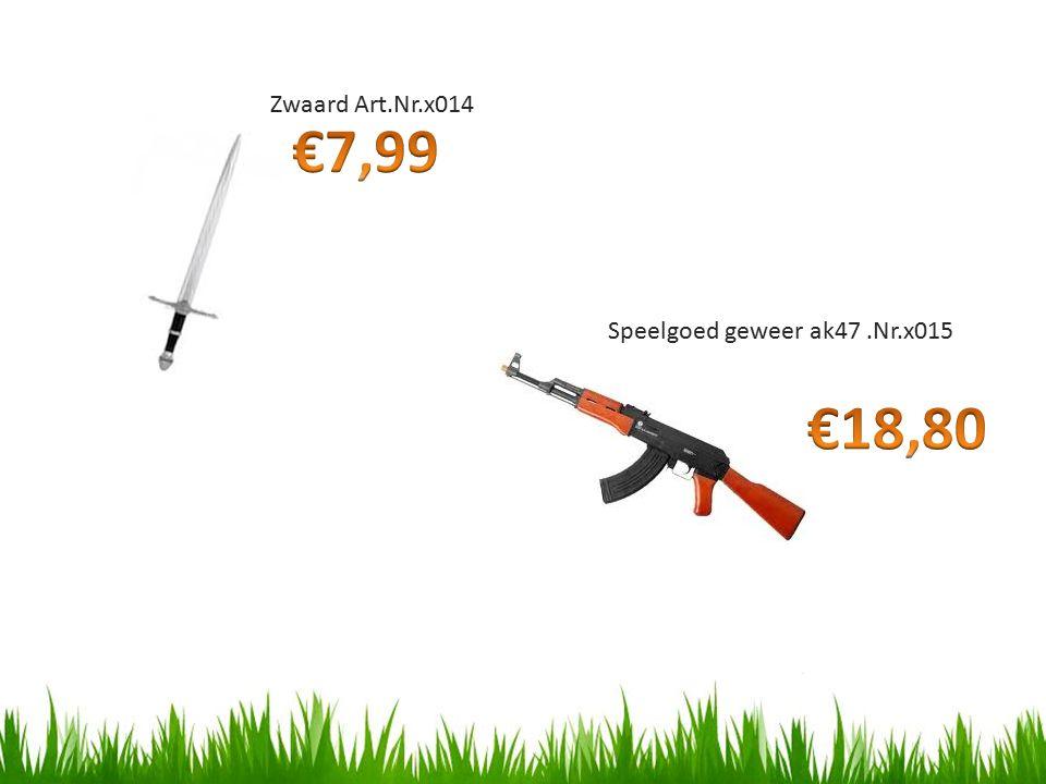Zwaard Art.Nr.x014 Speelgoed geweer ak47.Nr.x015