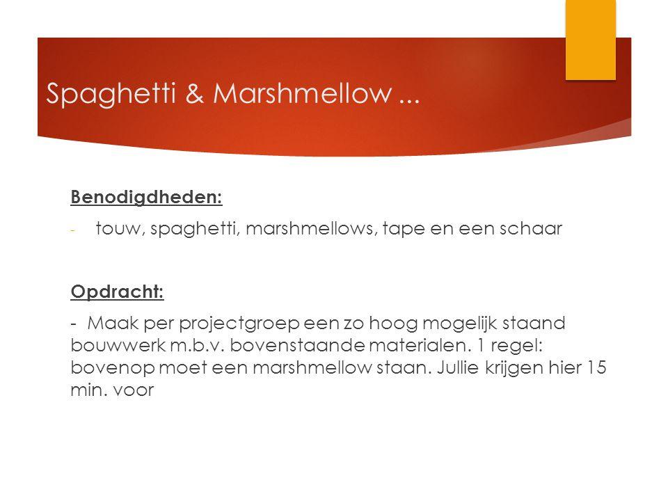 Spaghetti & Marshmellow...