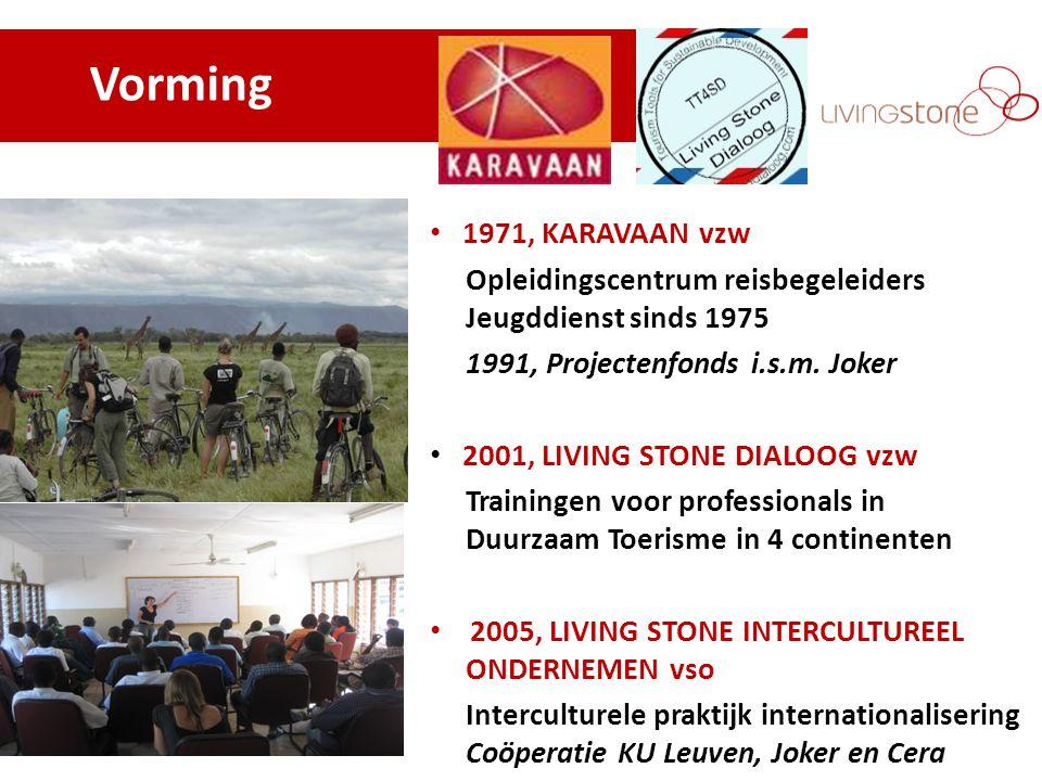 Vorming 1971, KARAVAAN vzw Opleidingscentrum reisbegeleiders Jeugddienst sinds 1975 1991, Projectenfonds i.s.m.