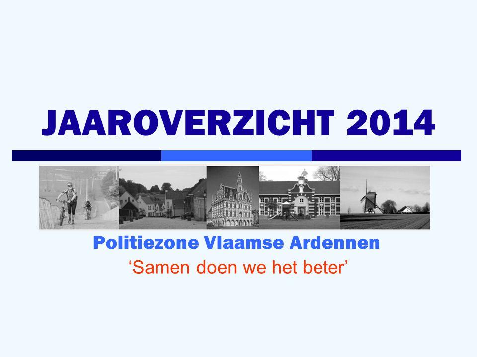 JAAROVERZICHT 2014 Politiezone Vlaamse Ardennen 'Samen doen we het beter'