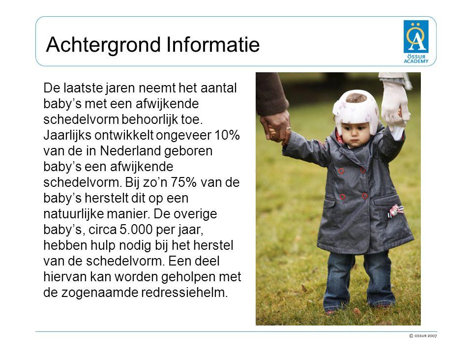 Achtergrond Informatie De laatste jaren neemt het aantal baby's met een afwijkende schedelvorm behoorlijk toe. Jaarlijks ontwikkelt ongeveer 10% van d