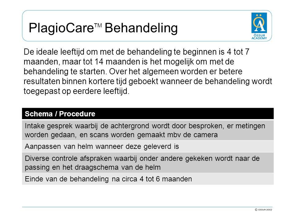 PlagioCare TM Behandeling De ideale leeftijd om met de behandeling te beginnen is 4 tot 7 maanden, maar tot 14 maanden is het mogelijk om met de behan