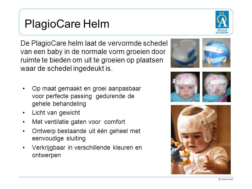 PlagioCare Helm Op maat gemaakt en groei aanpasbaar voor perfecte passing gedurende de gehele behandeling Licht van gewicht Met ventilatie gaten voor